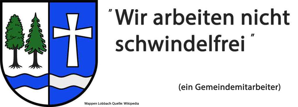 nicht schwindelfrei: Gemeinde Lobbach