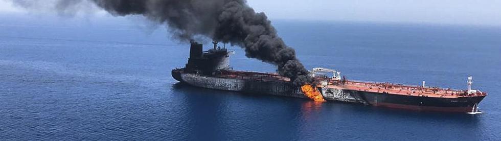 brennender Öltanker Quelle: ARD / AP