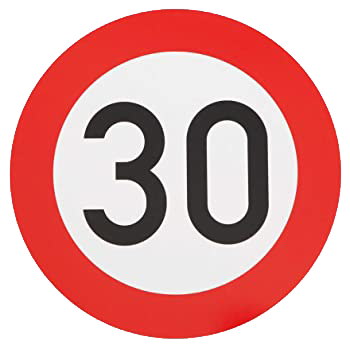 Schild 30er Stelle